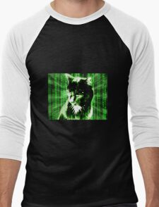 Matrix Cat Men's Baseball ¾ T-Shirt
