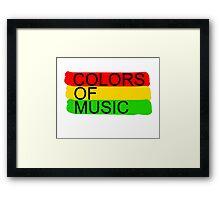 colors of music Framed Print
