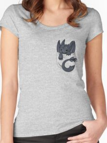 Is that a dragon in your pocket? Women's Fitted Scoop T-Shirt