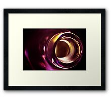 Abstract Glass Macro #21 Framed Print