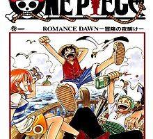 One Piece Volume 1 Manga Cover by Kanesuo28