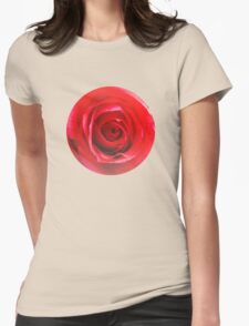 Red rose Close up 2 Womens Fitted T-Shirt