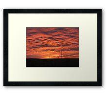 empty land full sky Framed Print