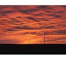 empty land full sky Photographic Print