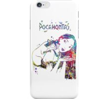 Pocahontas Disney Princess and Meeko Watercolor iPhone Case/Skin