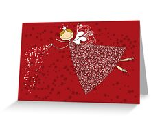 Snowflakes Fairy Greeting Card