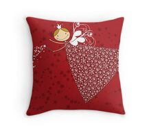 Snowflakes Fairy Throw Pillow