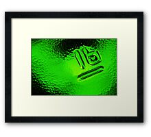 Abstract Glass Macro #30 Framed Print