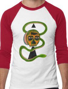 Insane Reptile Brain Men's Baseball ¾ T-Shirt