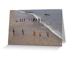 Net fishing, Accra, Ghana, 2005 Greeting Card