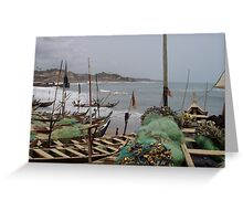 Fishing boats, Atlantic coast, Ghana Greeting Card