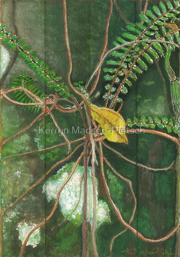 Entanglement (detail section 1c), On the Outer ~ Tree Trunk Extracts by Kerryn Madsen-Pietsch