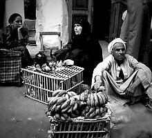 People in Luxor Market, Egypt by Monica Di Carlo