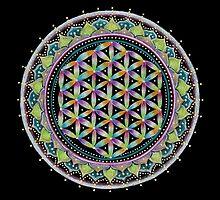 Flower of Life Mandala by Laural Virtues Wauters