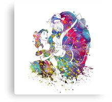 Beauty and the Beast Belle Disney Princess Watercolor Canvas Print
