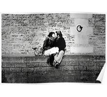 Love on the Seine's quai, Paris Poster