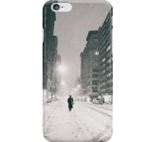 Snowy Night in New York City iPhone Case/Skin