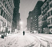 Snowy Night in New York City by Vivienne Gucwa