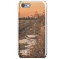 fence line at sunrise iPhone Case/Skin