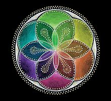 Seed of Life Mandala by Laural Virtues Wauters