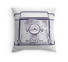 The Old Clock Radio Throw Pillow
