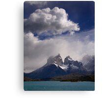 Cloud over Cuernos Canvas Print