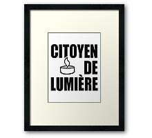 Citoyen de Lumière (Citizen of Light) Framed Print