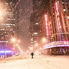 City Snow at Night - New York City by Vivienne Gucwa