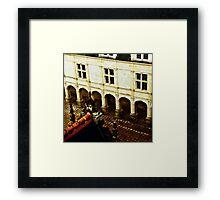 Villandry Castle Courtyard 2 - Loire Valley - France Framed Print