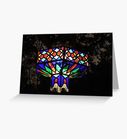 Light Of Crushed Jewels Greeting Card