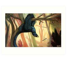The Hanged Manirapator -- Microraptor Art Print
