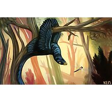 The Hanged Manirapator -- Microraptor Photographic Print