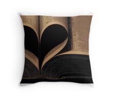 Book Heart Throw Pillow