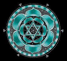 Throat Chakra Mandala by Laural Virtues Wauters