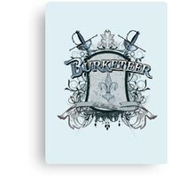 Official Burketeer Logo Badge Blue Canvas Print