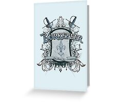 Official Burketeer Logo Badge Blue Greeting Card