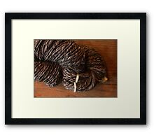 Handspun Jacob's Wool Framed Print