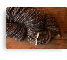 Handspun Jacob's Wool Canvas Print