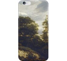 Iacob van Ruisdael –  A Wooded Dune Landscape (c. 1648) iPhone Case/Skin