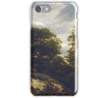 Iacob van Ruisdael –  A Wooded Dune Landscape (c. 1648) iPhone Case/Skin