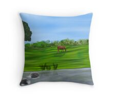 Spring Pastures Throw Pillow