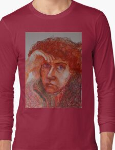 Red - Portrait Of A Woman Long Sleeve T-Shirt