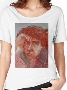 Red - Portrait Of A Woman Women's Relaxed Fit T-Shirt