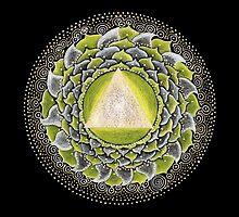 Solar Plexus Chakra Mandala by Laural Virtues Wauters