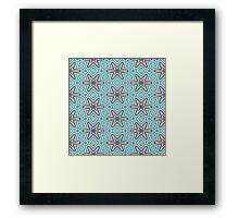 Black stars pattern Framed Print