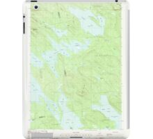 Maine USGS Historical Map Scraggly Lake 102949 1988 24000 iPad Case/Skin
