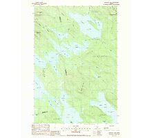Maine USGS Historical Map Scraggly Lake 102949 1988 24000 Photographic Print