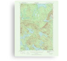 Maine USGS Historical Map Scraggly Lake 306759 1941 62500 Canvas Print