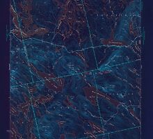 Maine USGS Historical Map Scraggly Lake 306760 1944 62500 Inversion by wetdryvac