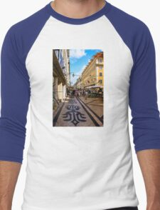 Rua Augusta, Lisbon Men's Baseball ¾ T-Shirt